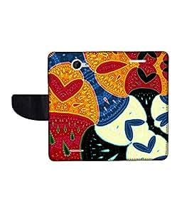 KolorEdge Printed Flip Cover For HTC Desire 516 -Multicolor (50KeMLogo11067HTC516)
