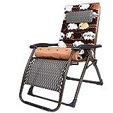 Deckchairs Feifei Klappstuhl Zero Gravity Lounge Chair Gepolsterte Verstellbare Liege mit Kopfstütze 300 kg Zusammenklappbar (Farbe : Black Grid)