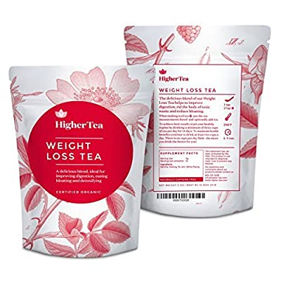Weight Loss Tea?: Higher Tea 14Day Body teatox Flush to Reduce bloating, suppress Appetite, Boost Metabolism, CONTROL Cravings, Burn Fat, & slim Flat Tummy. Cleanse & Colon with Liverpool de PU ERH, Green, Thé Oolong and White Peony Teas by Higher Tea