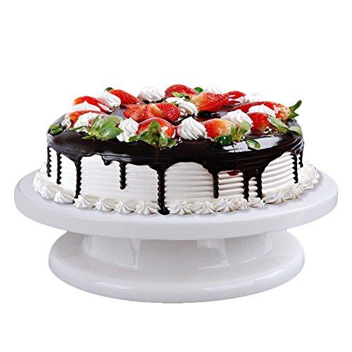 HuntGold Kuchen dekorieren Werkzeug drehbar Kuchenständer Sugarcraft Plattenspieler Cupcake Plattform - Revolving-cupcake
