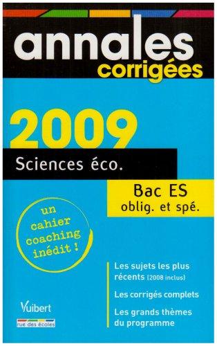 Sciences éco Bac ES
