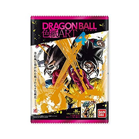 Carte Dbz Rare - Bandai Dragon ball Shikishi Art 4 Card
