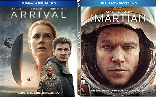 Arrival (Blu-ray + Digital HD) & The Martian (Blu-ray + Digital HD) 2-Blu-ray Bundle Hd Bundle