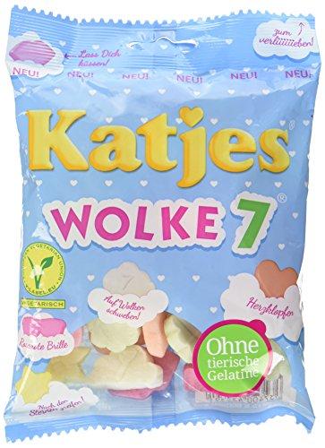 (Katjes Wolke 7 – Leckere Schaumzucker Süßigkeiten als Wölkchen-Form, Rosarote Brille, Herzen und mehr - Leckere Süßigkeiten für die ganze Familie (175g))