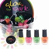 4er Set Glow in the dark UV Nagellack / Nail Polish 5ml Party Brights WoW!