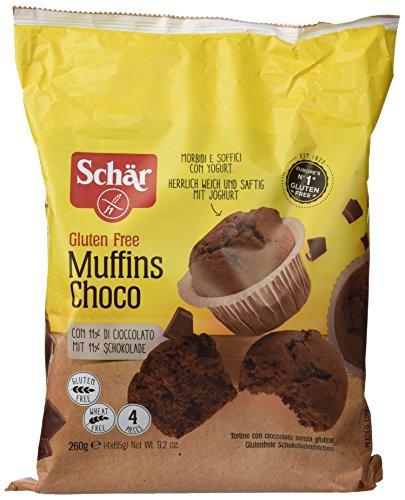 Magdalenas sin gluten de chocolate DR SCHÄR (4 unidades de 65 gr)