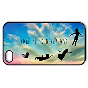 Peter Pan Take Me To Neverland-A Dreaming Place of Childhood Forever and Eternity iPhone 4,4S Hard Plastic Phone Case