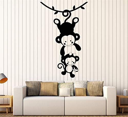 Wandtattoo Schlafzimmer Funny Monkey Family Wohnzimmer Sofa Hintergrund Home Zoo Tiere Art Decal Wohnzimmer Kinderzimmer Babyzimmer - Asche-wohnzimmer-sofa-tisch