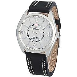 Eterna–Reloj de pulsera hombre kontiki Four–Hands Fecha Analógico Automático 1592.41.11.1116