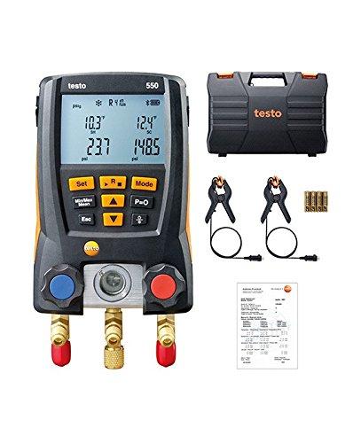 Testo 550 - die Monteurhilfe mit Bluetooth für Kälteanlagen und Wärmepumpen, 0563 1550