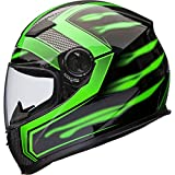 Best Motorcycle Helmets - Shox Sniper Skar Motorcycle Helmet M Green Review