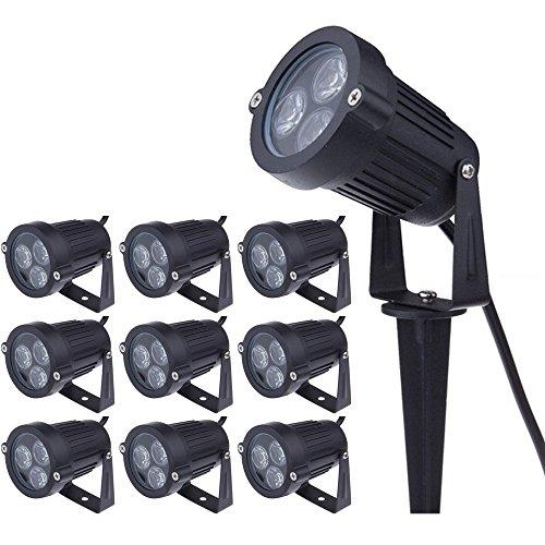Pack de 10 Foco LEDs con Pincho para Jardín 3W 220V Luz...