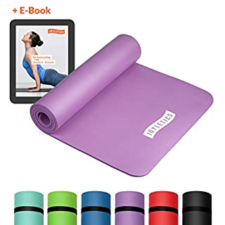 Joyletics® Fitnessmatte »100« Rutschfest und Abriebfest Matte für Yoga, Pilates oder Gymnastik | aus hochwertigem NBR-Schaumstoff – Maße 183 x 61 x 1,0 cm in lila