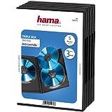 Hama DVD-Hülle Triple 5er-Pack (auch passend für CDs und Blu-rays, mit Folie zum Einstecken des Covers) schwarz