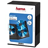 Hama Boîtier pour 3 Dvd, Lot de 5, Noir