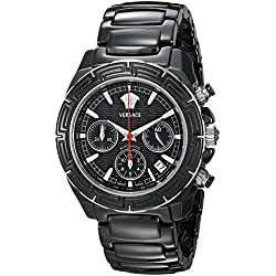 Versace Men's 11CC9D009 SC09 DV One Chrono Analog Display Automatic Self Wind Black Watch