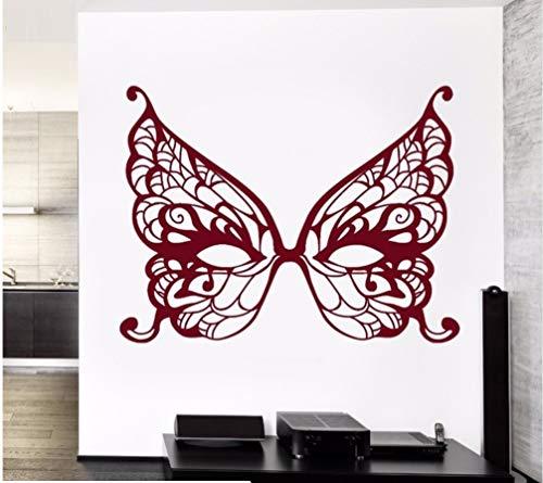 Vinyl Wandtattoo Schmetterling Maske Masquerade Geheime Wohnzimmer Schlafzimmer Moderne Atr Dekoration Aufkleber 57X75cm