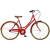 Viking Women's Campus 26 Inch Wheel Heritage Bike-Red, 18 Inch