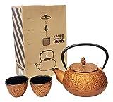 Happy Sales  HSCT-PNC17 , Cast Iron Tea Pot Tea Set Pine Copper