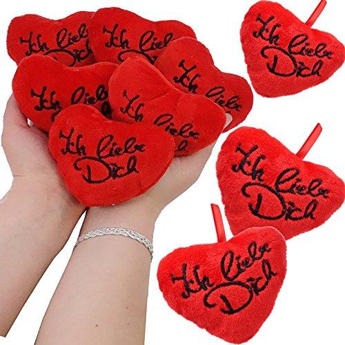 - 6 x Herzen - Plüsch -┃ Ich Liebe Dich ┃ Extra Flauschig ┃ Hochzeits - Herzen ┃ Zwei Hände Voller Herzen ┃ 6 x Ein Extra Flauschiges Ich Liebe Dich ❤ ✔ (Halloween-spiele Für 2 Jährige)