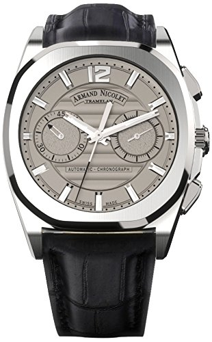 armand-nicolet-unisex-automatic-watch-with-grey-dial-chronograph-display-and-black-leather-strap-a65