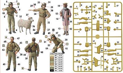4 Stellen und lokalen alter Mann + Schafe Afghanistan-Krieg 1/35 US Tank Crew arbeiten (Japan Import / Das Paket und das Handbuch werden in Japanisch)