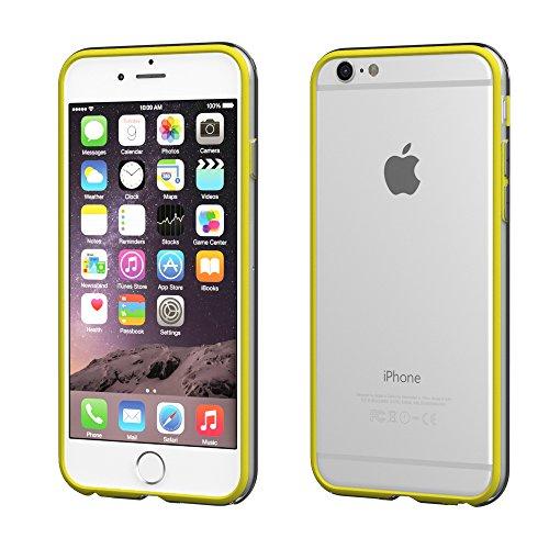 Apple iPhone 4S / 4 Hülle, EAZY CASE Bumper - Premium Handyhülle aus Silikon - Flexible Schutzhülle als Cover in Schwarz Gelb