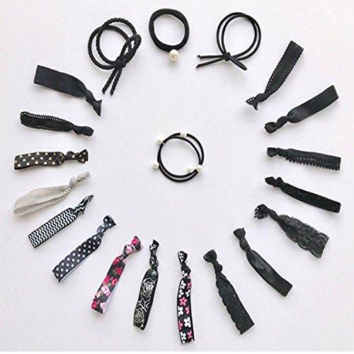 QCBC 20 Stück Haar Scrunchies Bobbles elastische bunte schrullige Haarbänder Krawatten, elegante Stil , #102