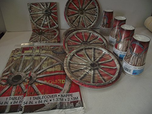 (Unique Rodeo Western Party Pack für 32 Gäste, Teller, Becher, Servietten, Tischdecke)