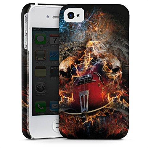 Apple iPhone X Silikon Hülle Case Schutzhülle Gitarre Totenkopf Skull Premium Case glänzend