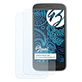 Bruni Schutzfolie für Lenovo Motorola Moto E3 Folie, glasklare Displayschutzfolie (2X)