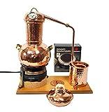 'CopperGarden' Destillieranlage Arabia 2 Liter ❁ Elektrisch 500 Watt ❁ Mit Aromasieb ❁ neues Model 2018 ❁ jetzt meldefrei und legal in DE, AT, CH