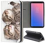 Samsung Galaxy A3 2016 Hülle Smart Flipcover Schutzhülle Case Handyhülle für Samsung Galaxy A3 2016 (1328 Katzenbabys Kätzchen Katzen Tier süß)