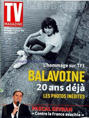 Hommage A Balavoine - TV MAGAZINE LE FIGARO [No 19155] du