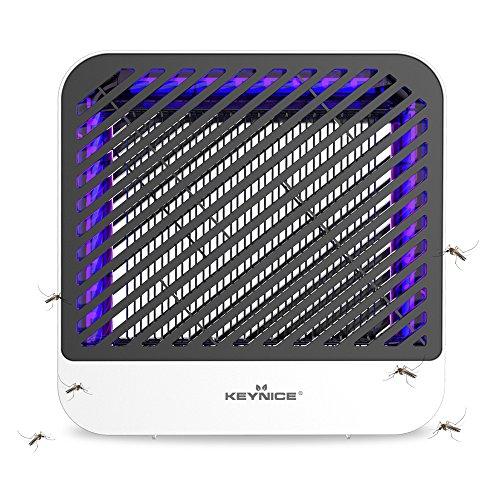 KEY NICE Elektronischer Insektenkiller Lampe Insektenlampe, 8W UV LED Elektrisch Moskito Killer, Bug Zapper, Insektenvernichter für Küche/Draußen/Haus