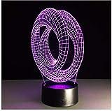 Ilusión Óptica Lámpara 3D De Humor Mesa Usb Lámpara Decorativa Rodillo Espiral Bombilla Ilusión Decoración