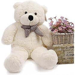 YunNasi Oso Gigante Peluche Teddy Animal 100 cm Blanco