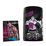 Fan Edition B.A.M. Train HARDER Intra Workout Supplement EAA & BCAA 2:1:1 Komplex inkl. Postkarte Mit Einer Signatur von Jil 1200g (Kirsche)
