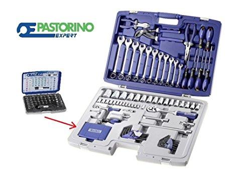 CASSETTA BUSSOLE+CHIAVI 124 UTENSILI DA 1/2-1/4 TORX PASTORINO EXPERT E034806