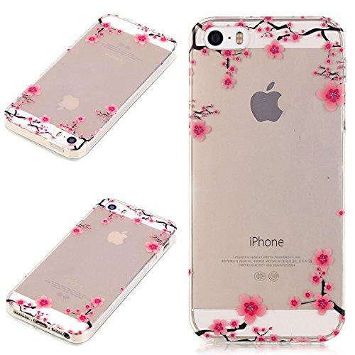 Beiuns coque en silicone pour Apple iPhone 5 5G 5S / iPhone SE (4 pouces) Housse Coque - N190 La tour eiffel N192 Calycanthe