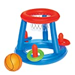 BELUPAI Inflatable Basketball Toys Tropical Hawaiian Summer Pool Beach Party Favors Giant Floating Hoop Game Set with 2...