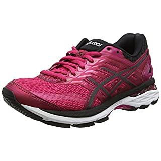 ASICS Women's GT-2000 5 Running Shoes, Multicolour (Cosmo Pink/Black/White), 6 UK 39.5 EU