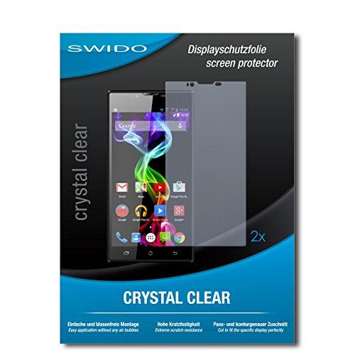 SWIDO Schutzfolie für Archos 55 Platinum [2 Stück] Kristall-Klar, Hoher Härtegrad, Schutz vor Öl, Staub & Kratzer/Glasfolie, Bildschirmschutz, Bildschirmschutzfolie, Panzerglas-Folie