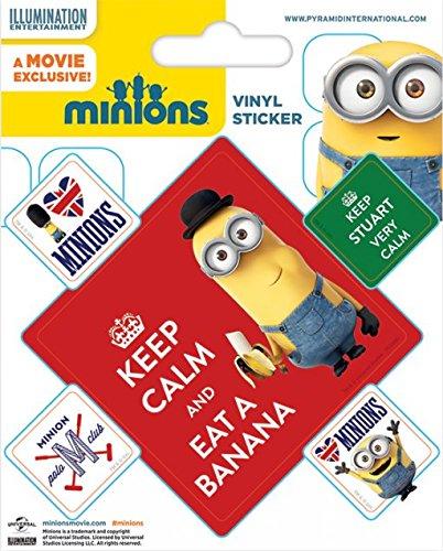 Pegatina vinilo Minions Keep Calm