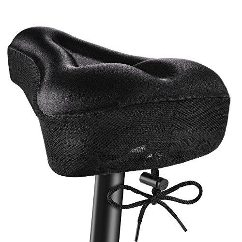 OMORC Funda Sillin Bicicleta Gel Comodo, Acolchada e Impermeable Sillin Gel para la Bici, Tiener Cinta Que se Ajusta la Distancia y la Aprieta(No Apto para Bicis Estaticas)