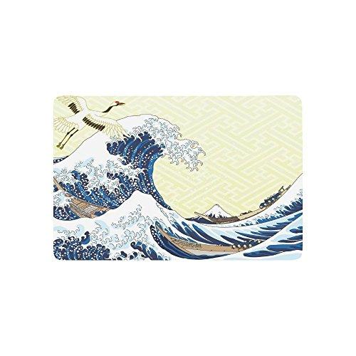 interestprint Classic Japanische Ocean Mandschurenkranich Home Decor, The Great Wave off Kanagawa Polyester Stoff Vorhang für die Dusche Badezimmer-Sets mit Haken 182,9x 182,9cm, Textil, multi, 23.6 X 15.7 inch (Badezimmer-set Sakura)