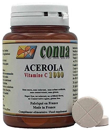 Vitamin C 1000 mg Acérola sécable en 2 ou 4 renfermant 250...