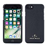 Jack Wills iPhone 7/6 Cover, WRAY Saffiano Leather Back Shell Phone Case for Apple iPhone 7/6  Black