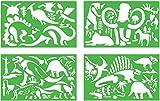 Zeichenschablonen Dinosaurier