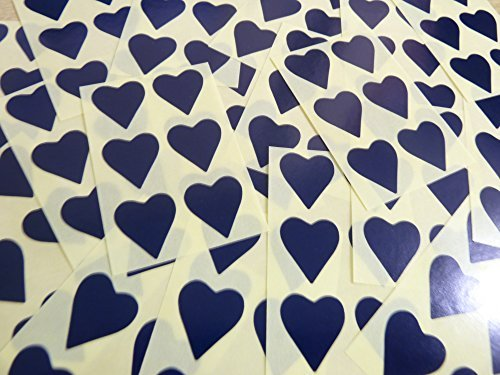 22x20mm Azul Marino Oscuro azul Con Forma De Corazón Etiquetas, 90 auta-Adhesivo Código De Color Adhesivos, adhesivo Corazones para Manualidades y Decoración